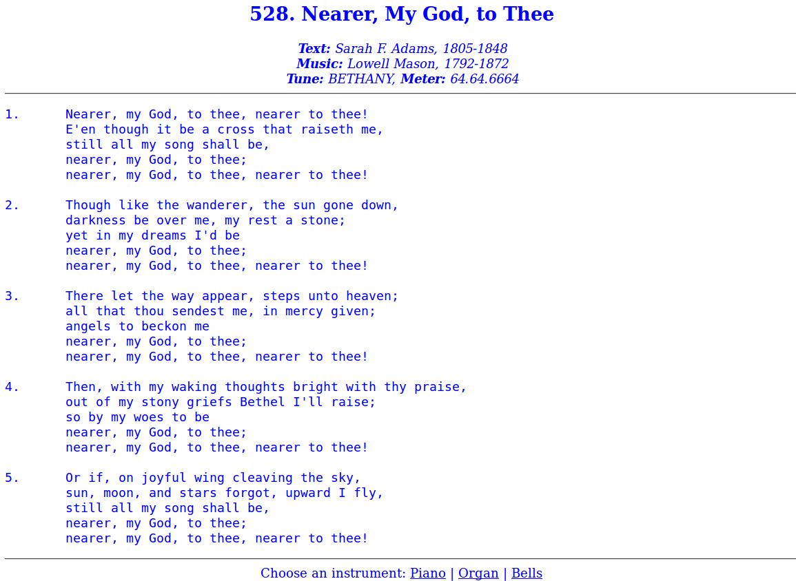 Nearer_My_God_to_Thee_lyrics_words